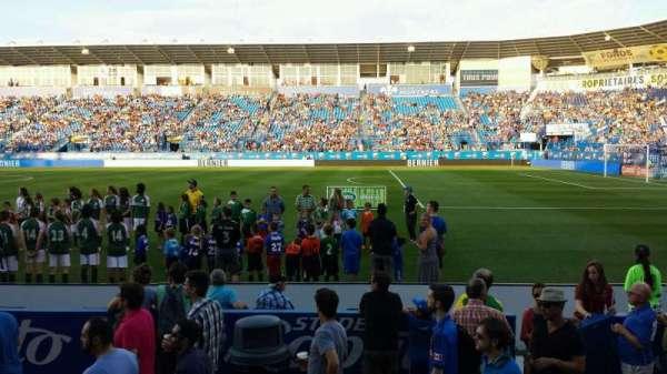 Saputo Stadium, secção: 102, fila: E, lugar: 8