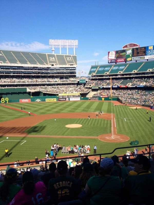 Oakland Coliseum, secção: 220, fila: 7, lugar: 15