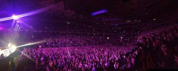 Madison Square Garden, secção: 116, fila: 20, lugar: 16