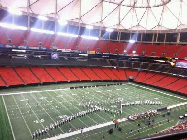 Georgia Dome, secção: 326, fila: 1, lugar: 14