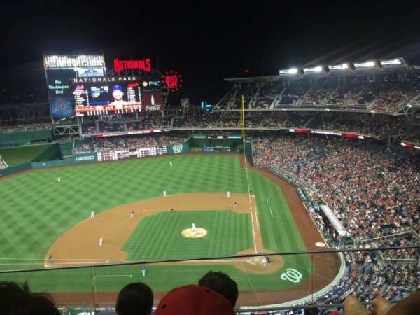 Nationals Park, secção: 409, fila: C, lugar: 8