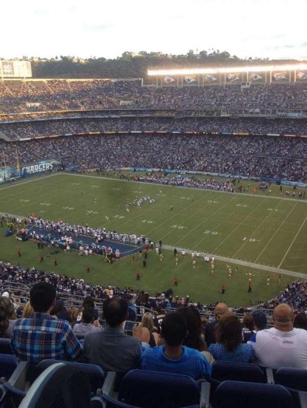 San Diego Stadium, secção: V11, fila: 18