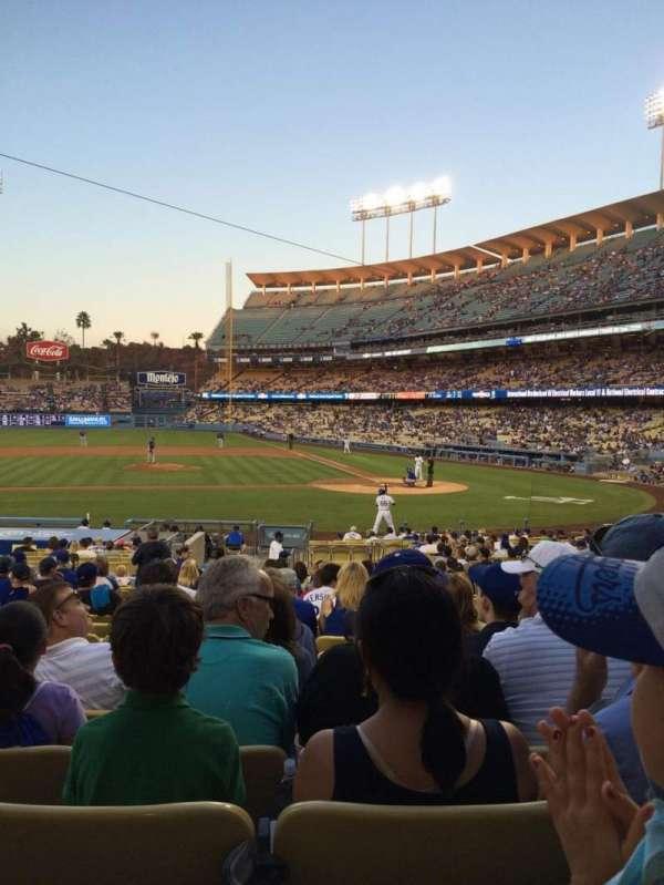 Dodger Stadium, secção: 15FD, fila: S, lugar: 3
