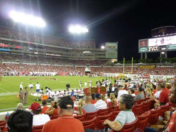 Raymond James stadium, secção: 109, fila: H, lugar: 1