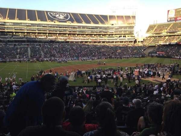 Oakland Coliseum, secção: 120, fila: 32, lugar: 10