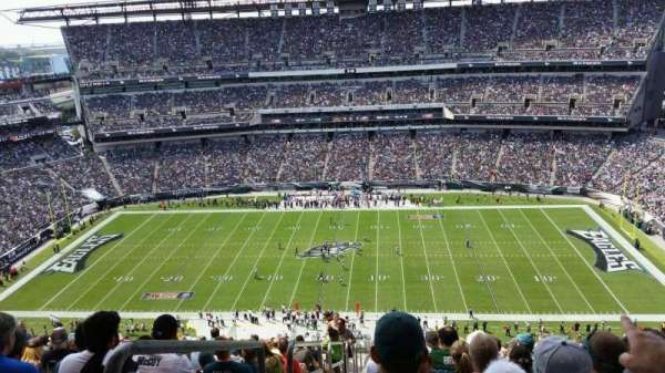 Lincoln Financial Field, secção: 226, fila: 22, lugar: 25