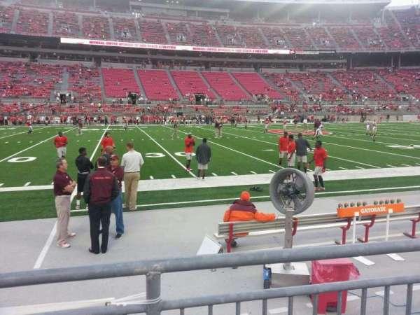 Ohio Stadium, secção: 24aa, fila: 2, lugar: 11