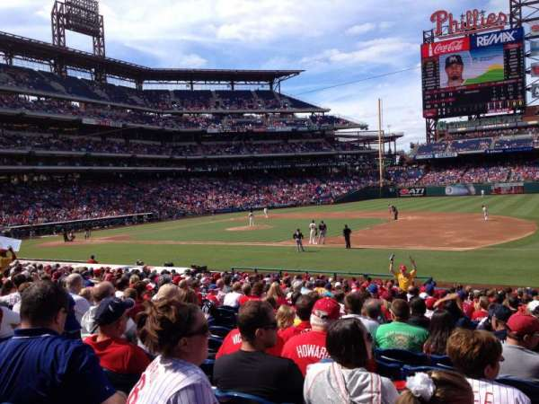 Citizens Bank Park, secção: 114, fila: 24, lugar: 9