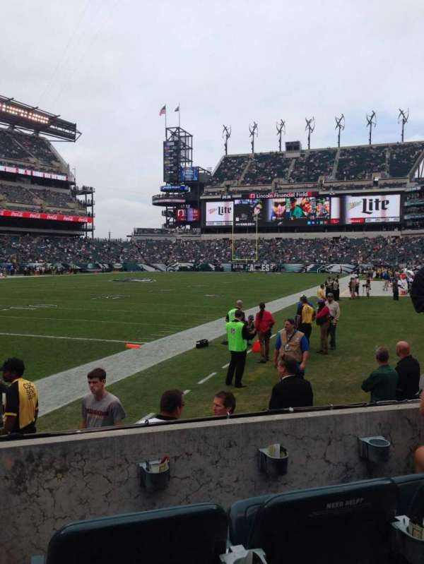 Lincoln Financial Field, secção: 114, fila: 3, lugar: 6