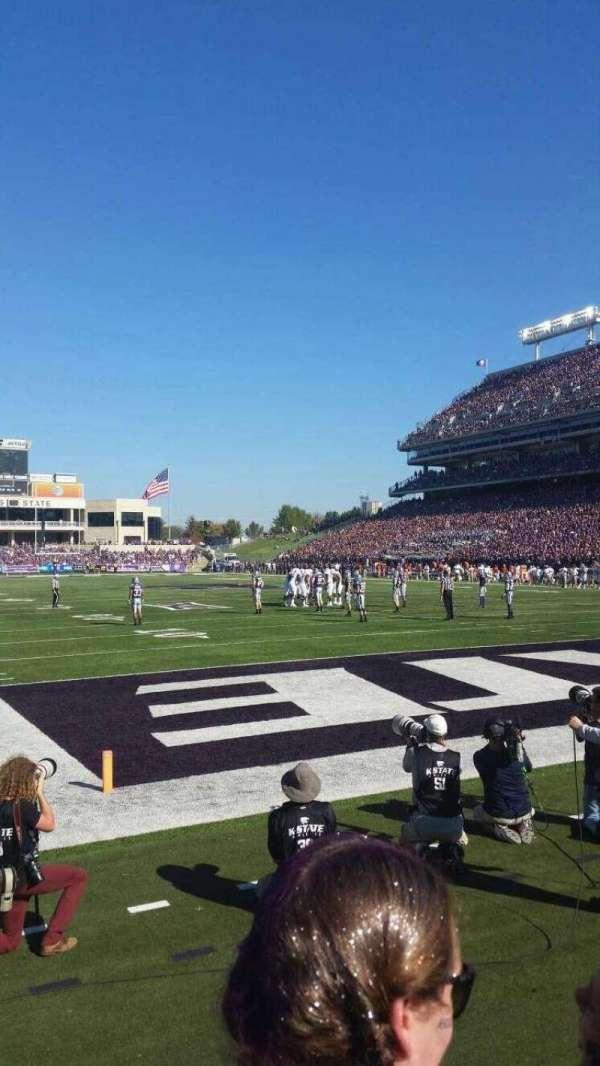 Bill Snyder Family Stadium, secção: 13, fila: 2, lugar: 23