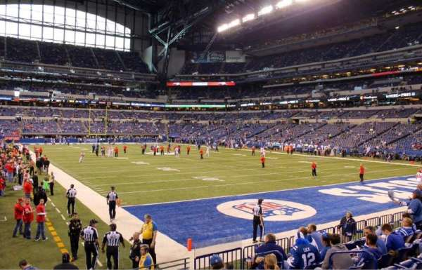 Lucas Oil Stadium, secção: 103, fila: 10, lugar: 7 and 8 on