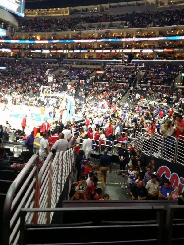 Staples Center , secção: 117, fila: 15, lugar: 22