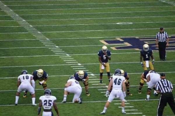 Notre Dame Stadium, secção: 20, fila: 34, lugar: 6