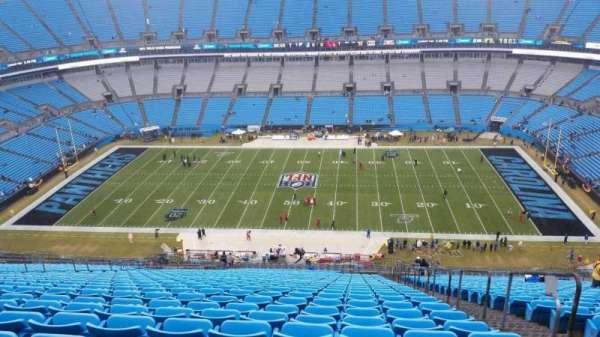 Bank of America Stadium, secção: 514, fila: 33, lugar: 3