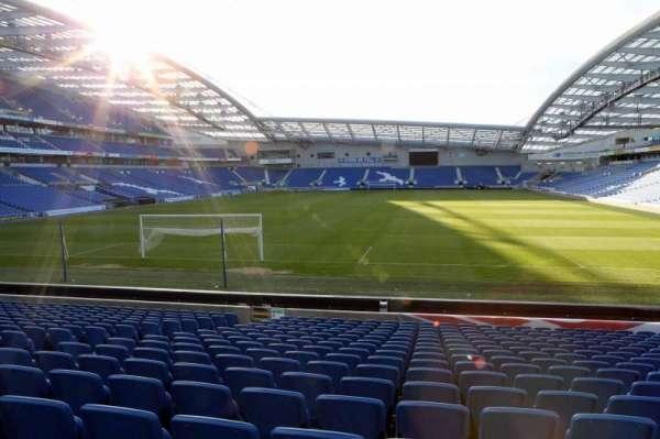 American Express Community Stadium, secção: S1D, fila: N