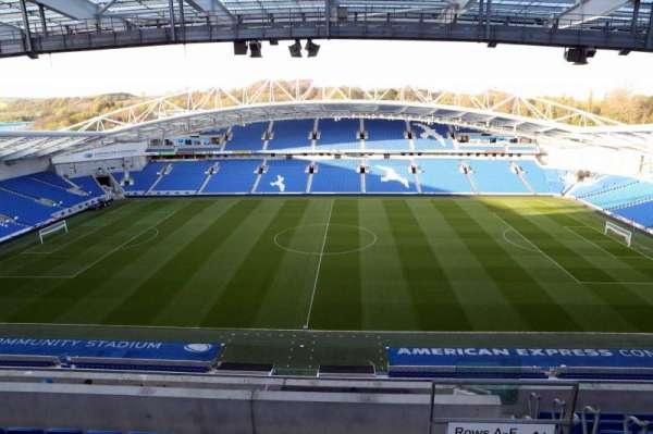 American Express Community Stadium, secção: W3D, fila: H