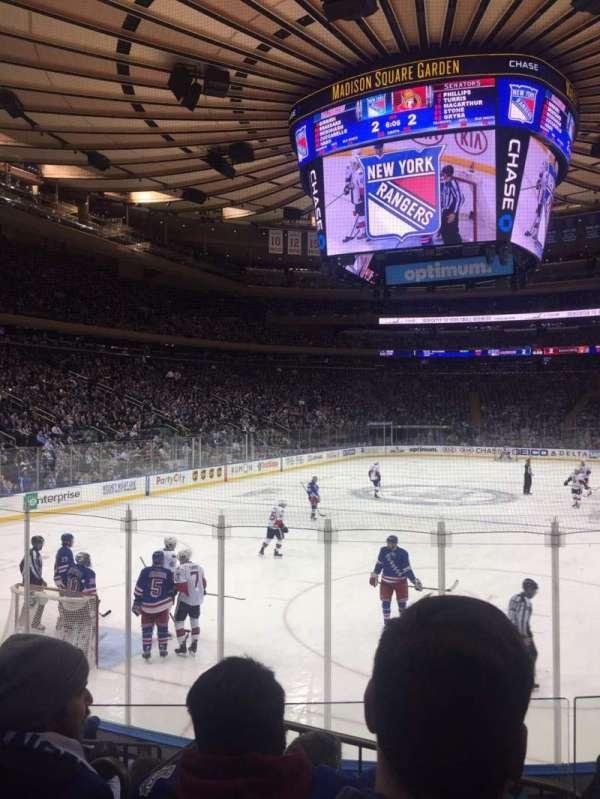 Madison Square Garden, secção: 103, fila: 8, lugar: 10