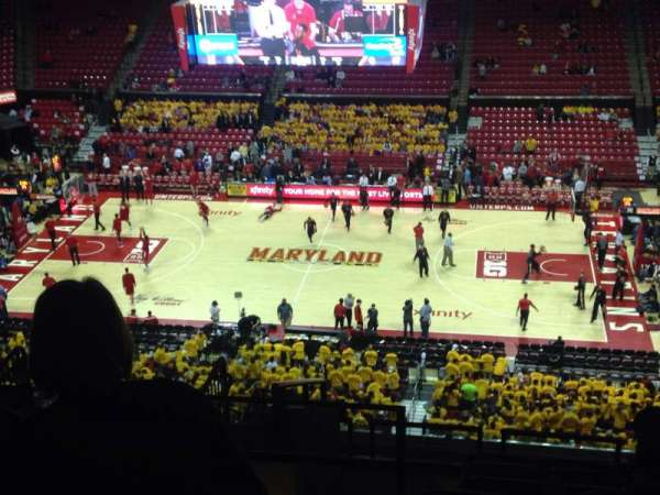 Xfinity Center (Maryland), secção: 215, fila: 14, lugar: 17