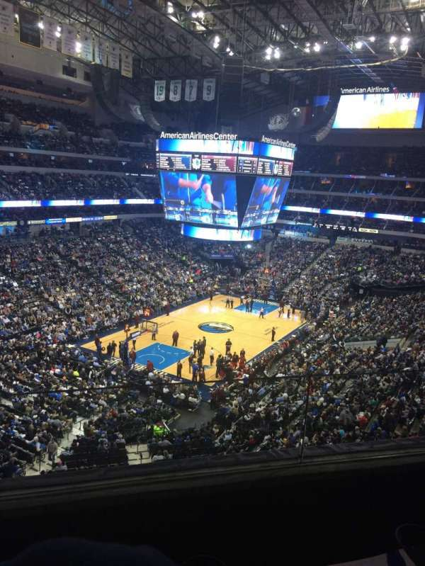 American Airlines Center, secção: 321, fila: B, lugar: 7