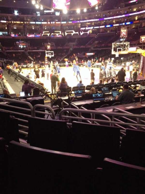 Staples Center, secção: 108, fila: 5, lugar: 5