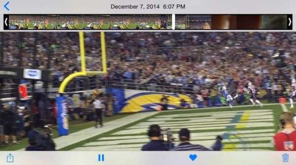 San Diego Stadium, secção: F31, fila: 3, lugar: 1