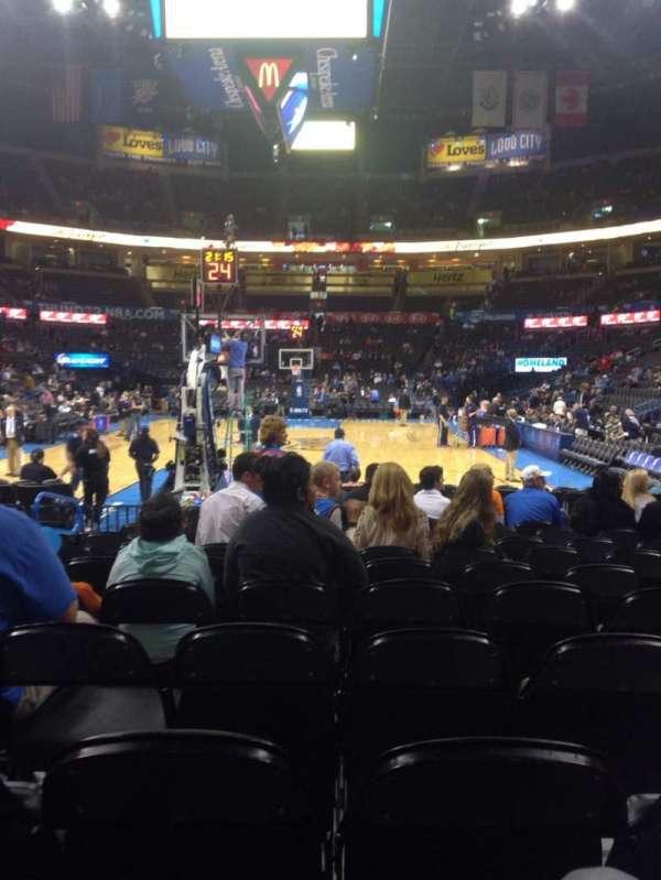 Chesapeake Energy Arena, secção: 120, fila: MM, lugar: 8