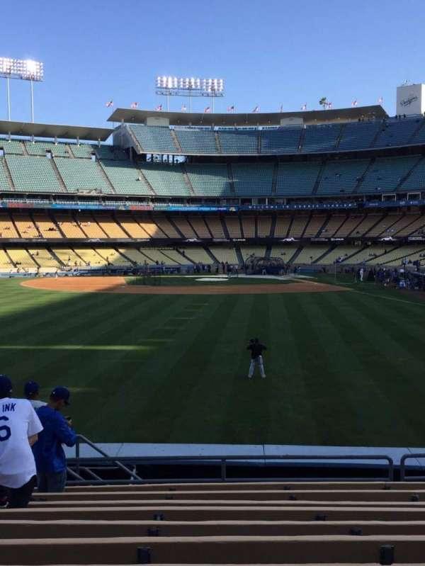 Dodger Stadium, secção: 303PL, fila: L, lugar: 14