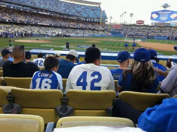 Dodger Stadium, secção: 18fd, fila: J, lugar: 6