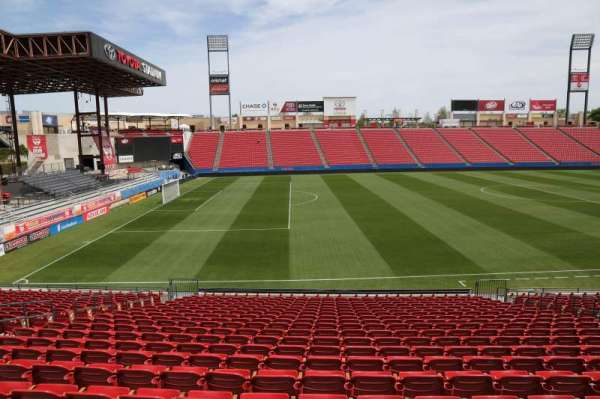 Toyota Stadium, secção: 103, fila: 20, lugar: 10