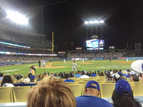 Dodger Stadium, secção: 10FD, fila: C, lugar: 6