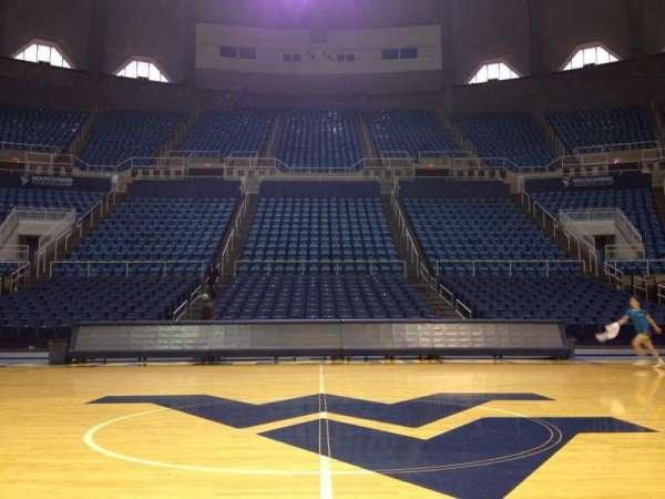 WVU Coliseum, secção: Court, fila: 1, lugar: 1
