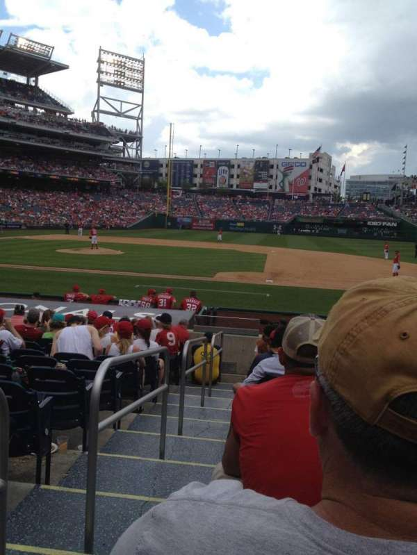 Nationals Park, secção: 130, fila: J, lugar: 18