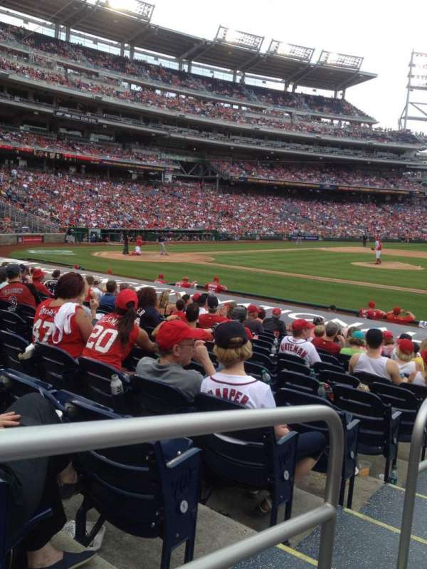Nationals Park, secção: 130, fila: J, lugar: 130