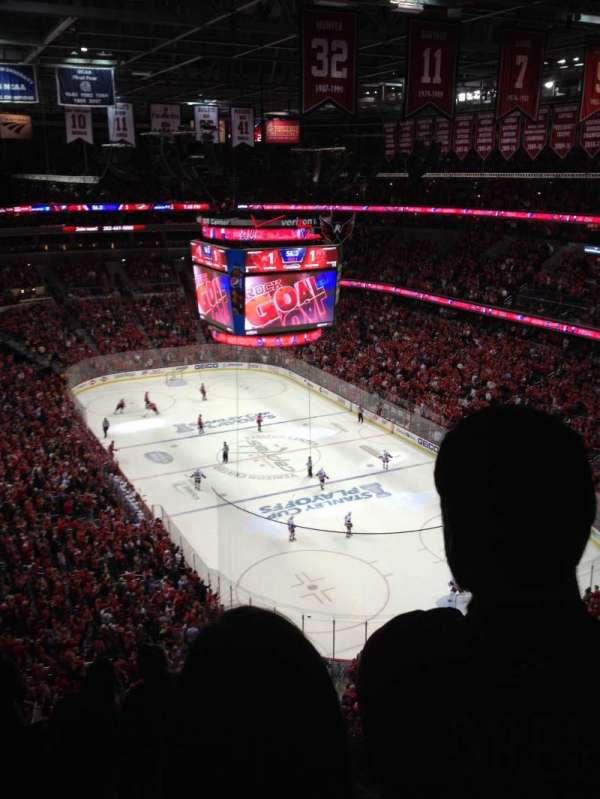 Capital One Arena, secção: 406, fila: F