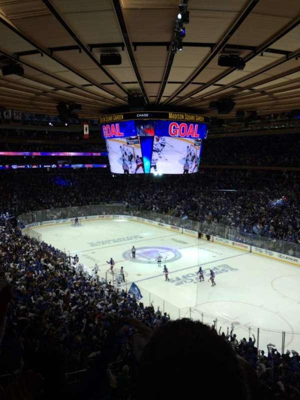 Madison Square Garden, secção: 215, fila: 3, lugar: 5