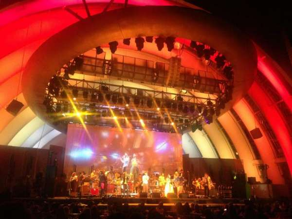Hollywood Bowl, secção: Garden Box 254, lugar: 1