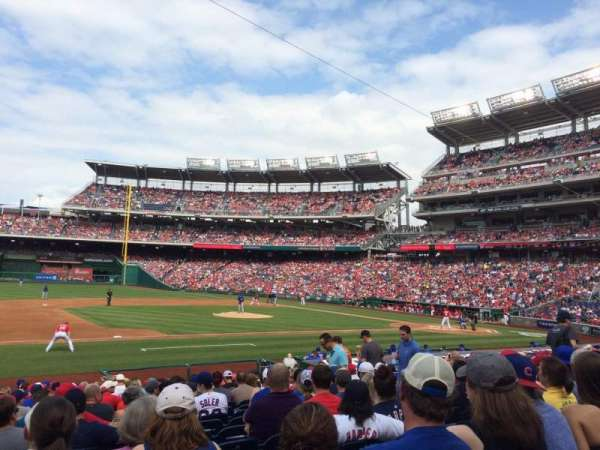 Nationals Park, secção: 115, fila: U, lugar: 15