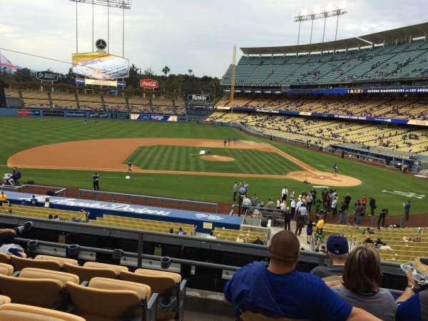 Dodger Stadium, secção: 127LG, fila: E, lugar: 8