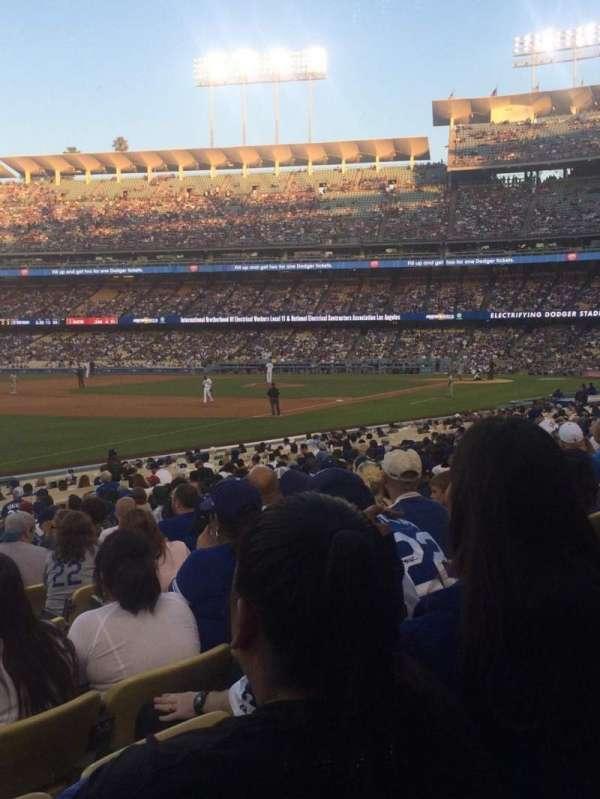 Dodger Stadium, secção: 43FD, fila: R, lugar: 6