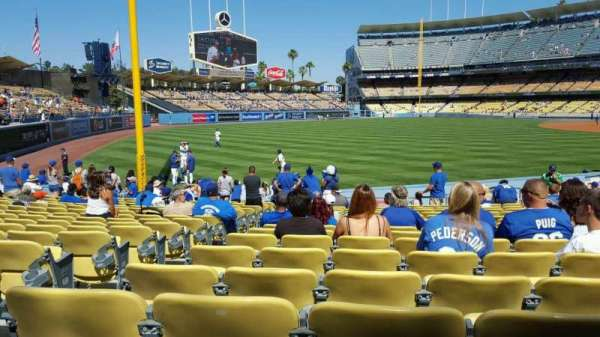 Dodger Stadium, secção: 47FD, fila: P, lugar: 19