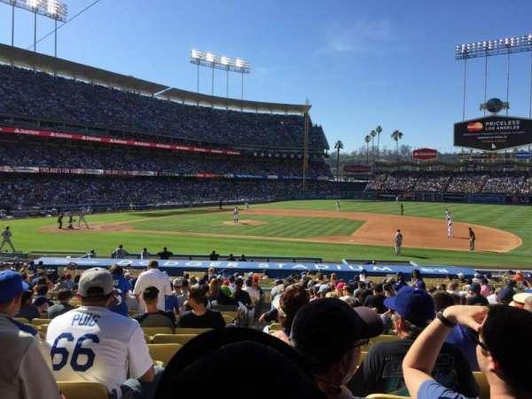 Dodger Stadium, secção: 22FD, fila: V, lugar: 1
