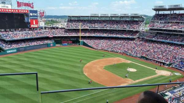 Nationals Park, secção: 404, fila: B, lugar: 22