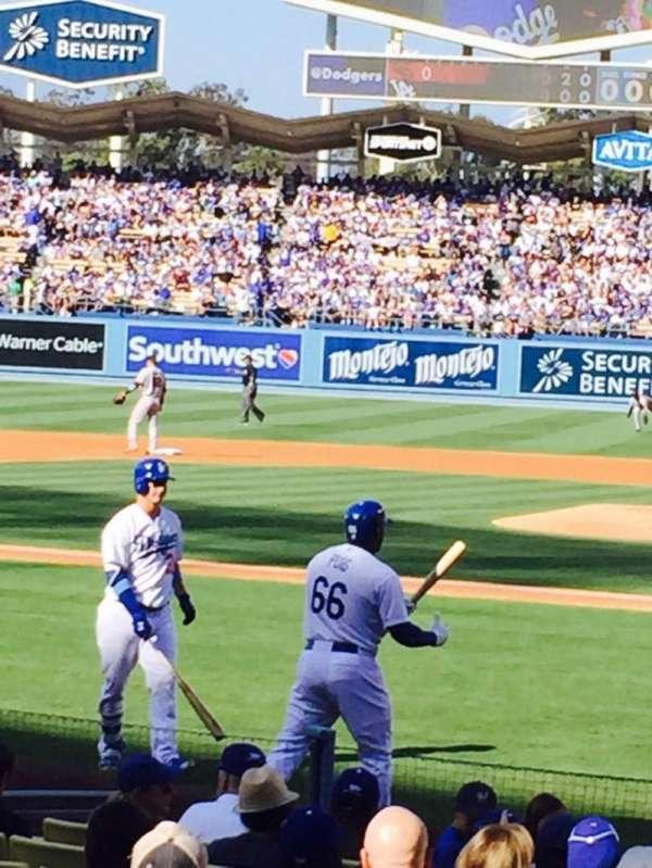 Dodger Stadium, secção: 9FD, fila: E, lugar: 1