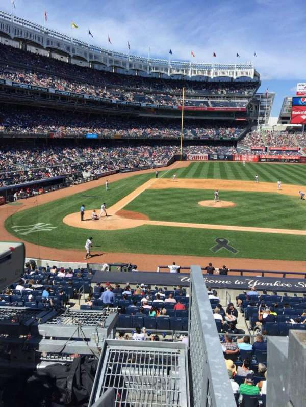 Yankee Stadium, secção: 217, fila: 1, lugar: 1