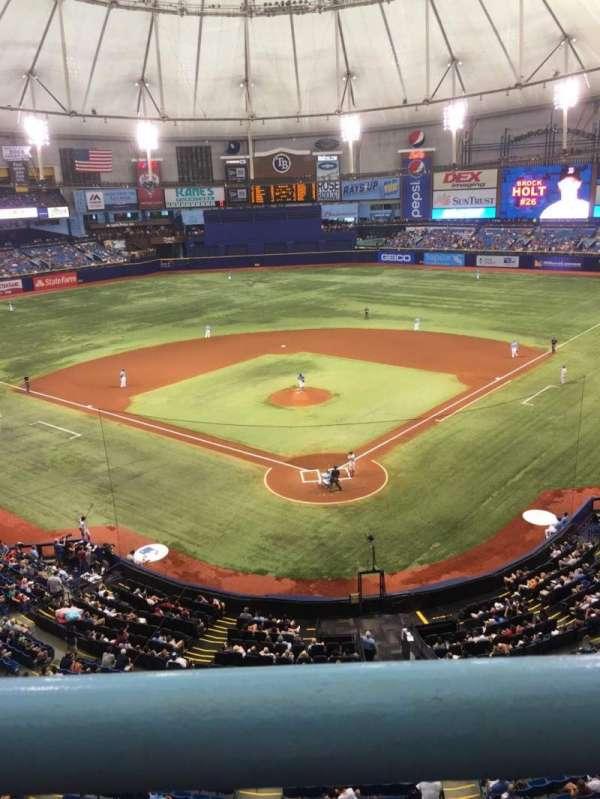 Tropicana Field, secção: 301, fila: A, lugar: 14