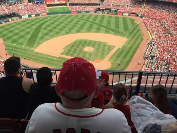 Busch Stadium, secção: 452, fila: 6, lugar: 7