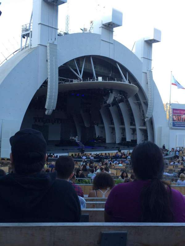 Hollywood bowl, secção: E, fila: 9, lugar: 41