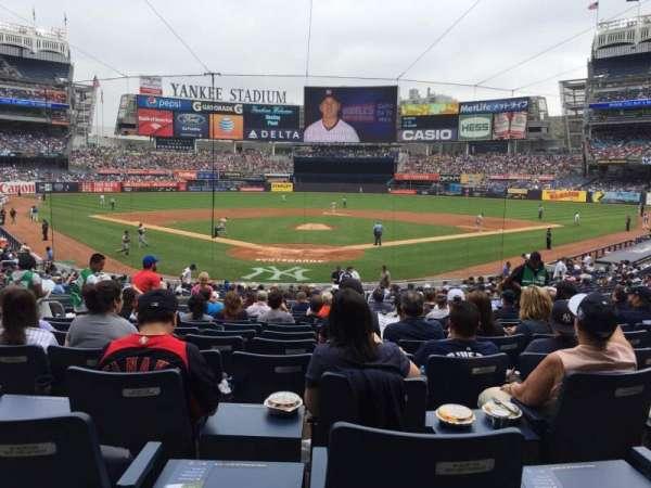 Yankee Stadium, secção: 120A, fila: 25, lugar: 6
