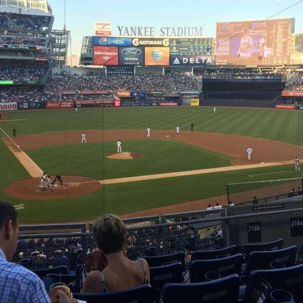 Yankee Stadium, secção: 218B, fila: 6, lugar: 5