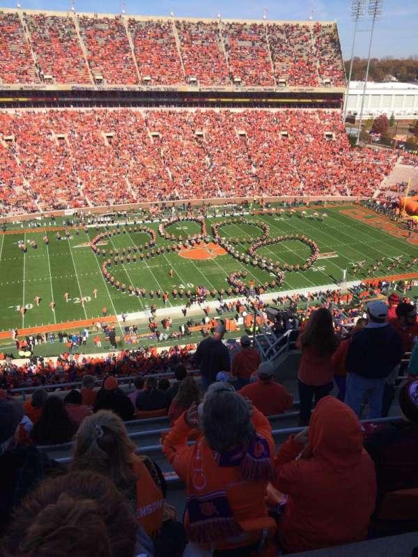 Memorial Stadium, Clemson, secção: TDG, fila: H